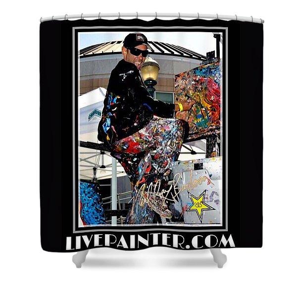 Live Painter Photo Shower Curtain