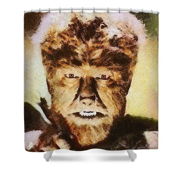 Lon Chaney Jr, As The Wolfman Shower Curtain
