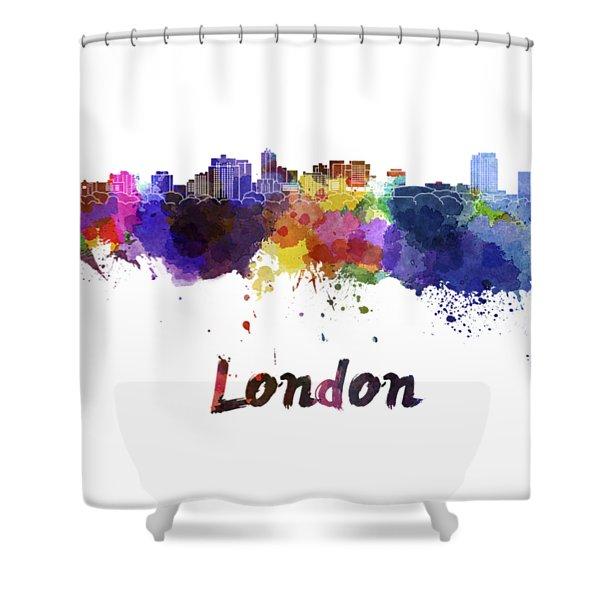 London Skyline In Watercolor Shower Curtain