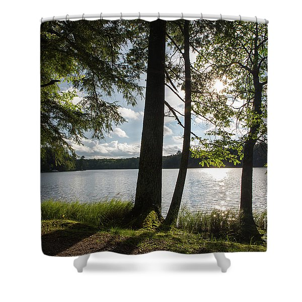 Long Lake Afternoon Shower Curtain