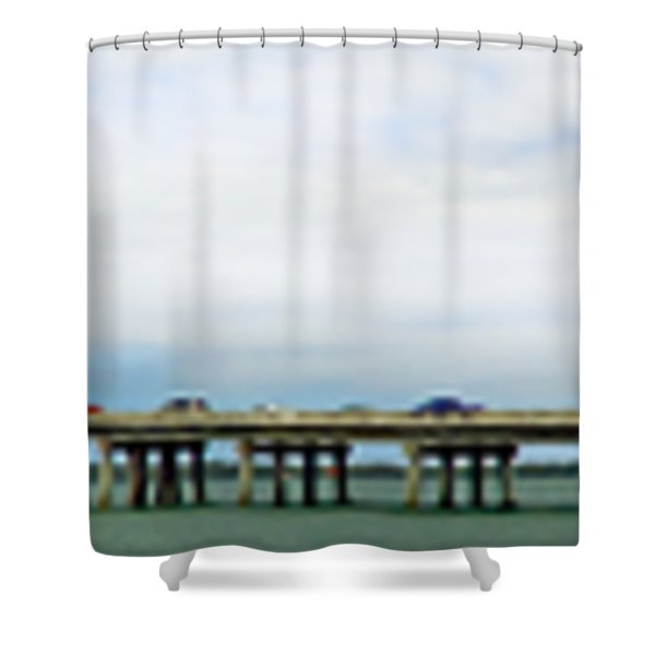 Longboat Pass Drawbridge With Bird Shower Curtain