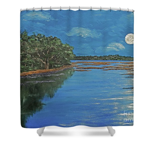 Lowcountry Moon Shower Curtain