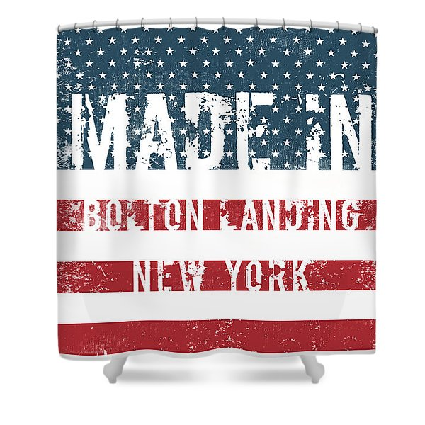 Made In Bolton Landing, New York Shower Curtain