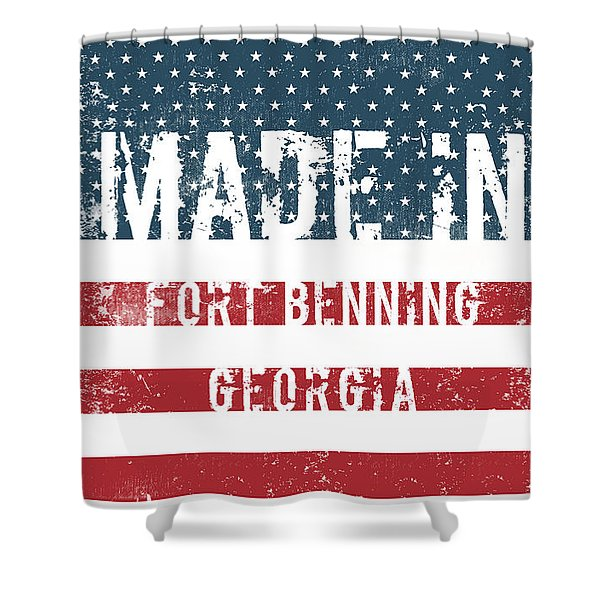 Made In Fort Benning, Georgia Shower Curtain