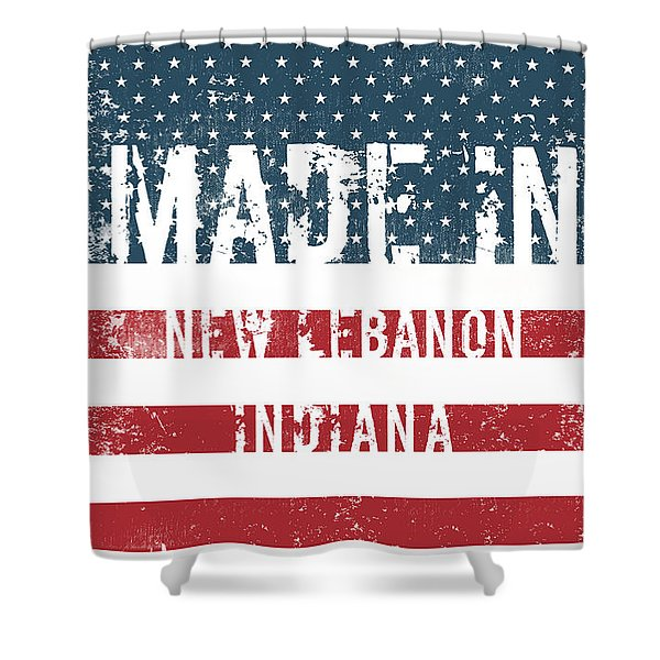Made In New Lebanon, Indiana Shower Curtain