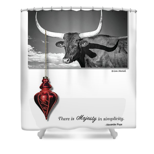 Majesty In Simplicity Shower Curtain