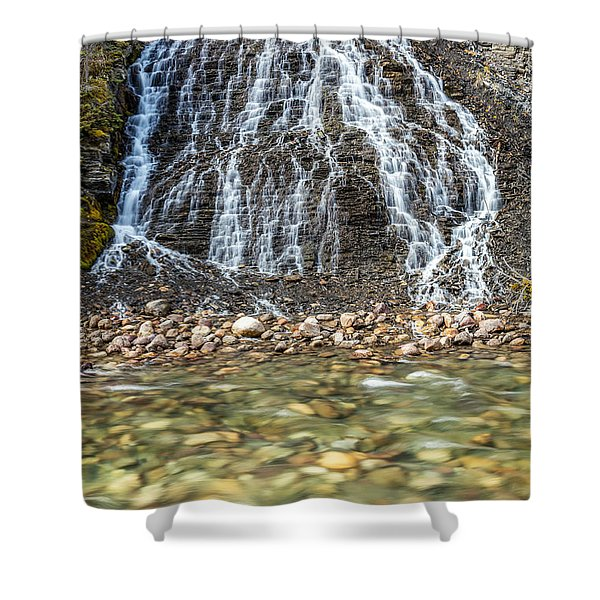 Cascades Of Maligne Canyon Shower Curtain