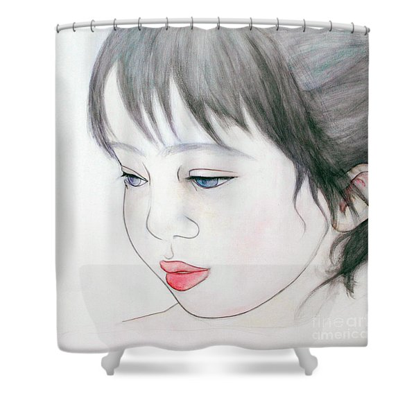 Manazashi Or Gazing Eyes Shower Curtain