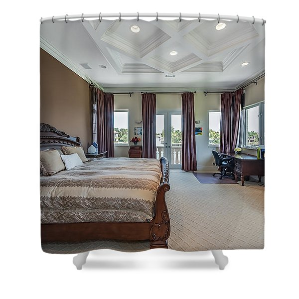Shower Curtain featuring the photograph Master Bedroom by Jody Lane