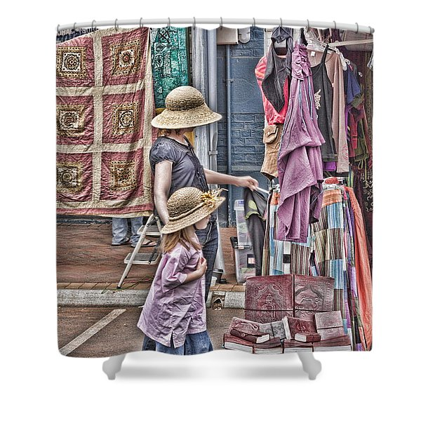 Matching Hats Shower Curtain