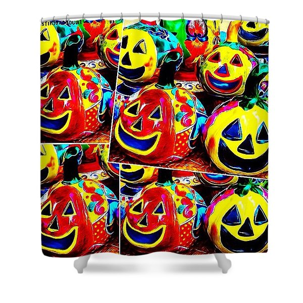 May Your #halloween Be Extra #colorful Shower Curtain