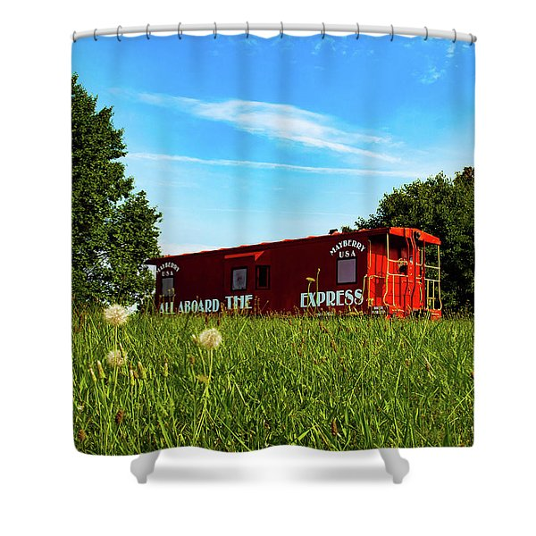 Mayberry Express Shower Curtain