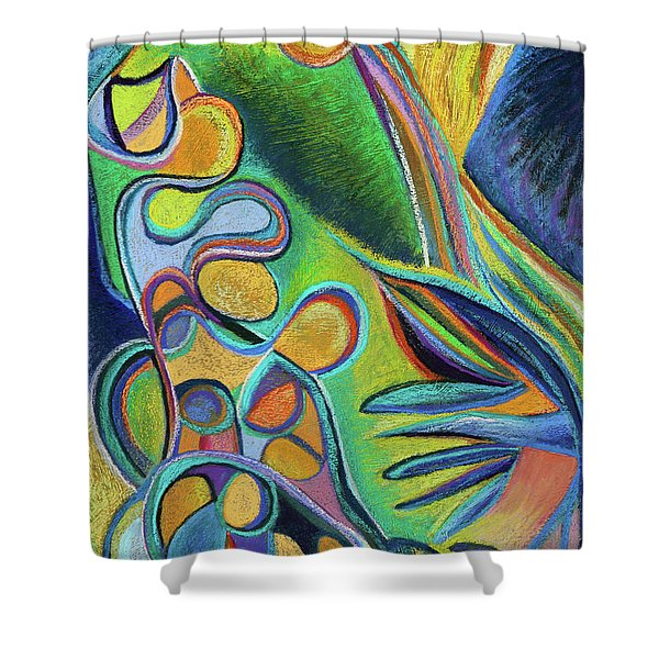 Meandering Curiosity Shower Curtain