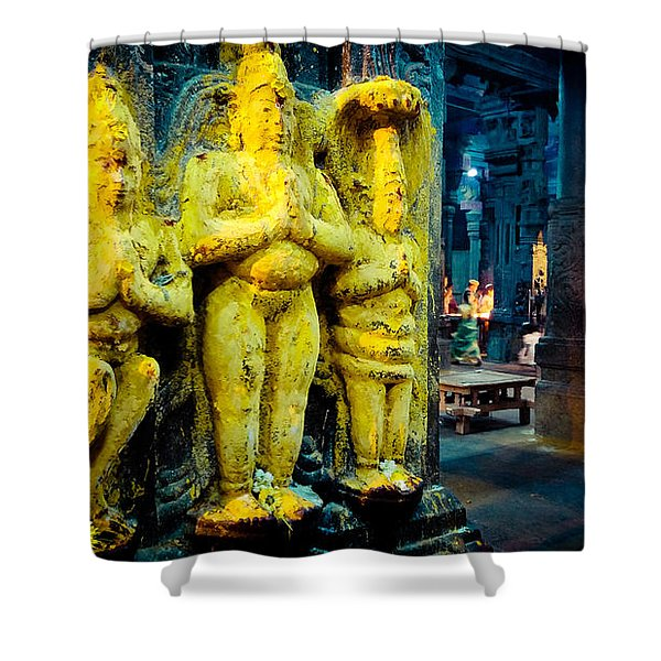 Meenakshi Temple Madurai India Shower Curtain