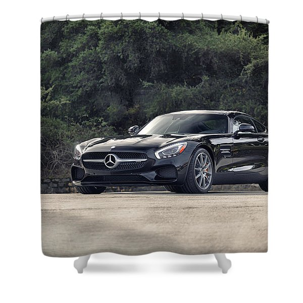 #mercedes #amg #gts Shower Curtain