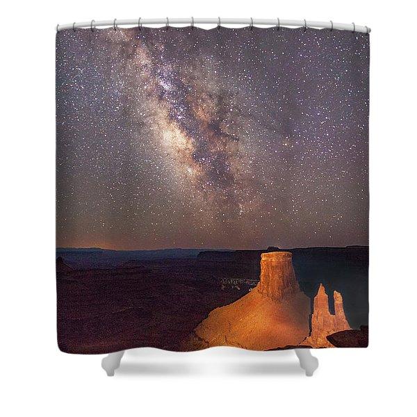Milky Way At Marlboro Point Shower Curtain