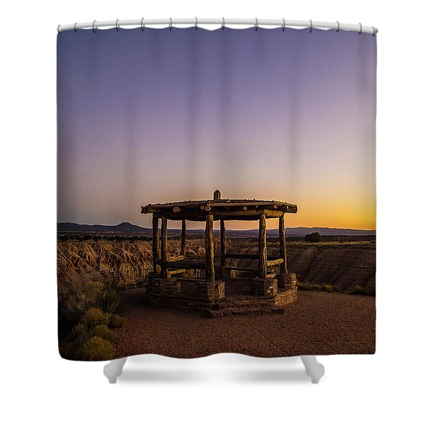Cathedral Gorge Gazebo Shower Curtain