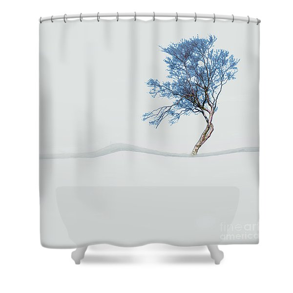 Mindfulness Tree Shower Curtain