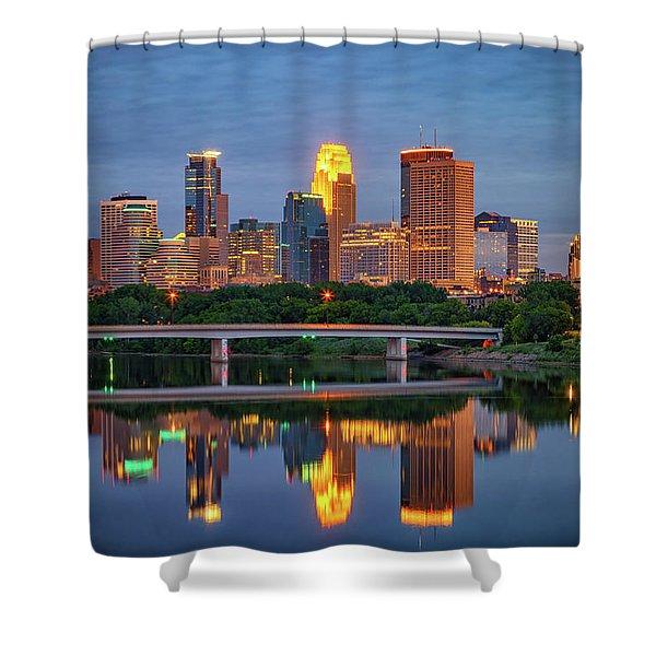 Minneapolis Twilight Shower Curtain