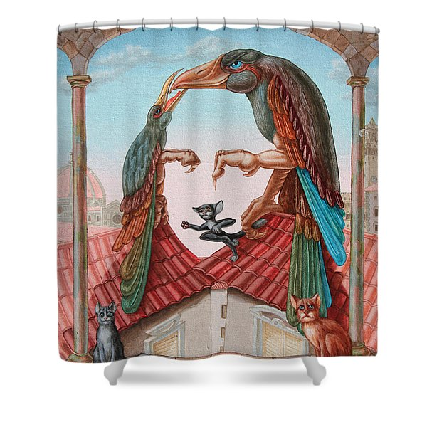 Mona Lisa. Air Shower Curtain