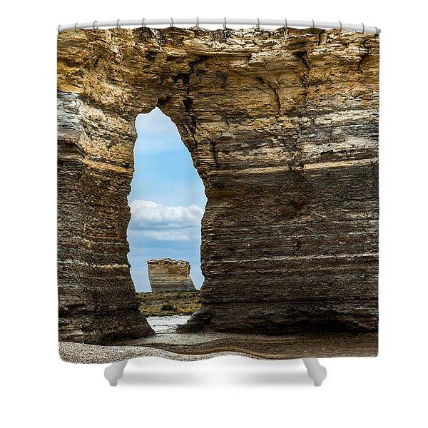 Monument Rocks Shower Curtain