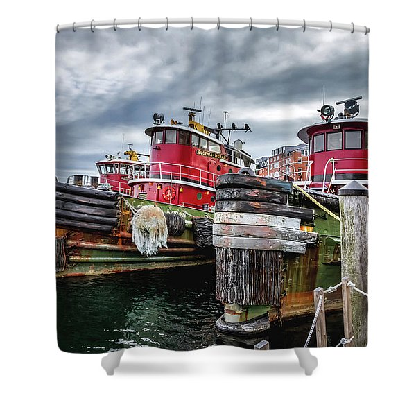 Moran Towing Tugboats Shower Curtain