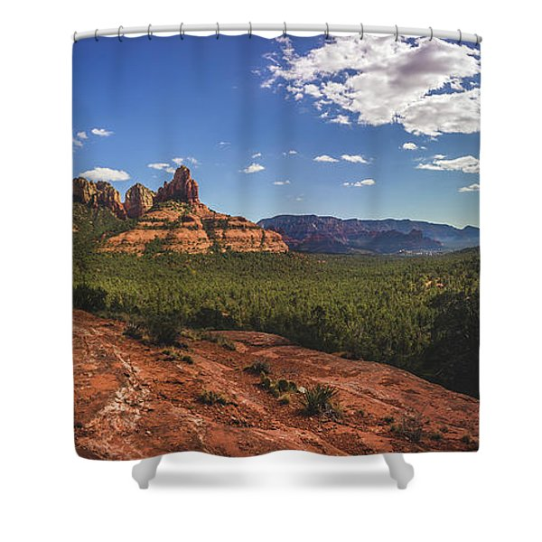 Mormon Canyon Panorama Shower Curtain