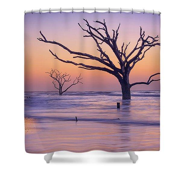 Morning At Botany Bay Plantation Shower Curtain