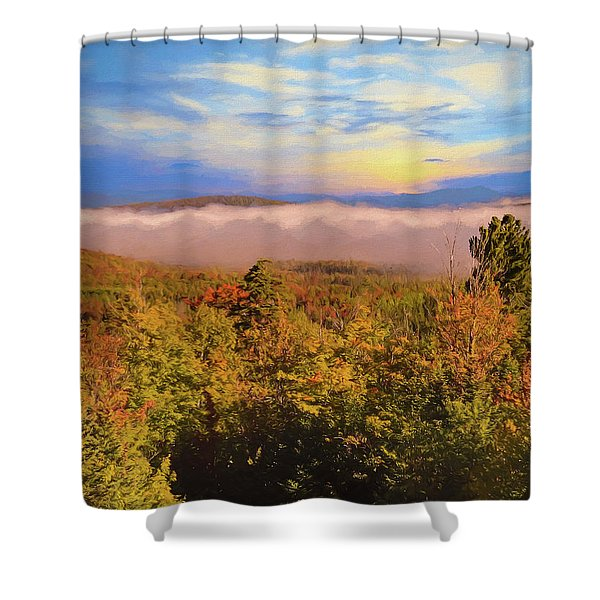 Morning Autumn Landscape Northern New Hampshire Shower Curtain