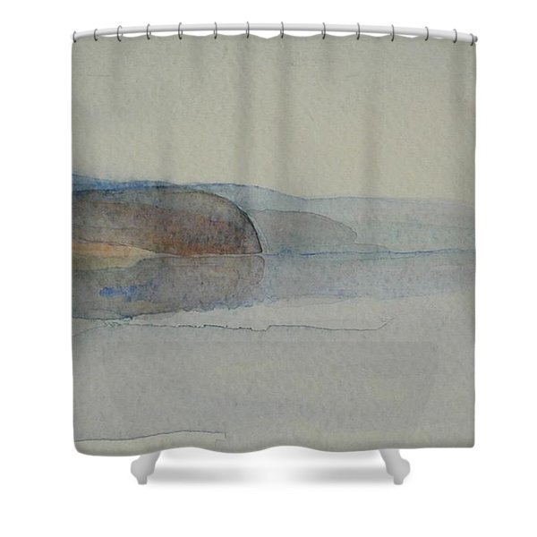 Morning Haze In The Swedish Archipelago On The Westcoast. Up To 36 X 23 Cm Shower Curtain