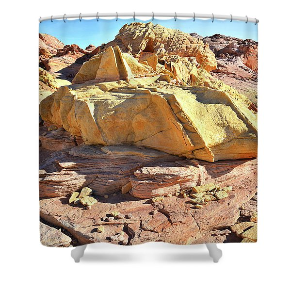 Morning In Wash 3 In Valley Of Fire Shower Curtain