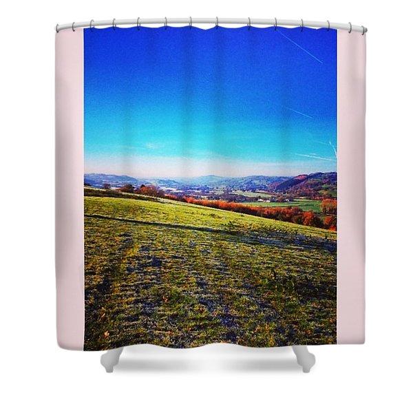 Morning Walk #walk #winter #early Shower Curtain