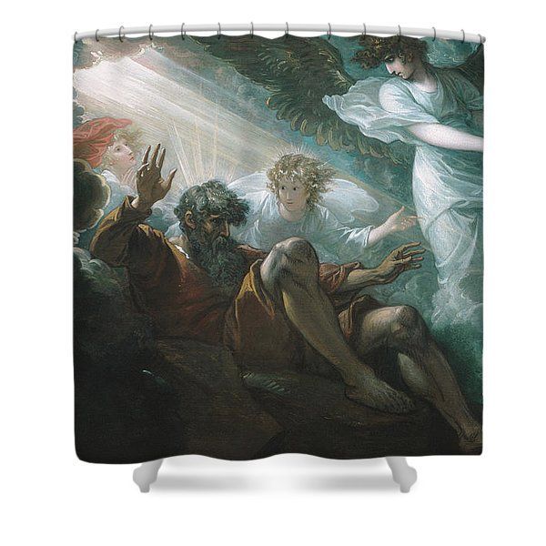 Moses Shown The Promised Land Shower Curtain