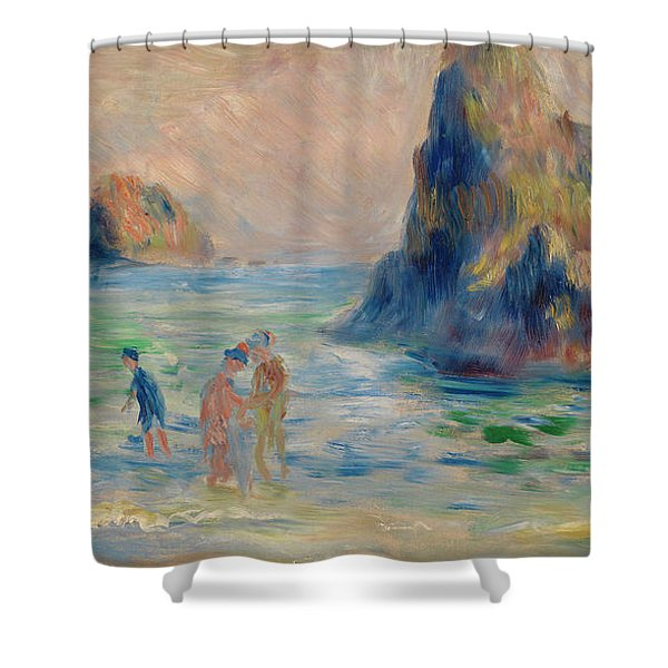 Moulin Huet Bay, Guernsey Shower Curtain