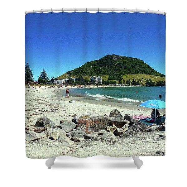 Mount Maunganui Beach 1 - Tauranga New Zealand Shower Curtain