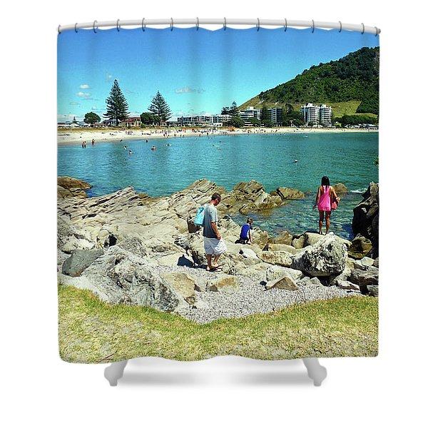 Mount Maunganui Beach 12 - Tauranga New Zealand Shower Curtain