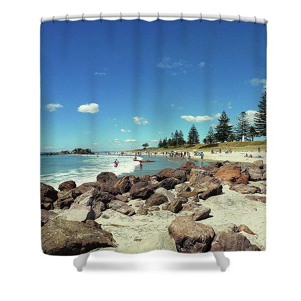 Mount Maunganui Beach 2 - Tauranga New Zealand Shower Curtain