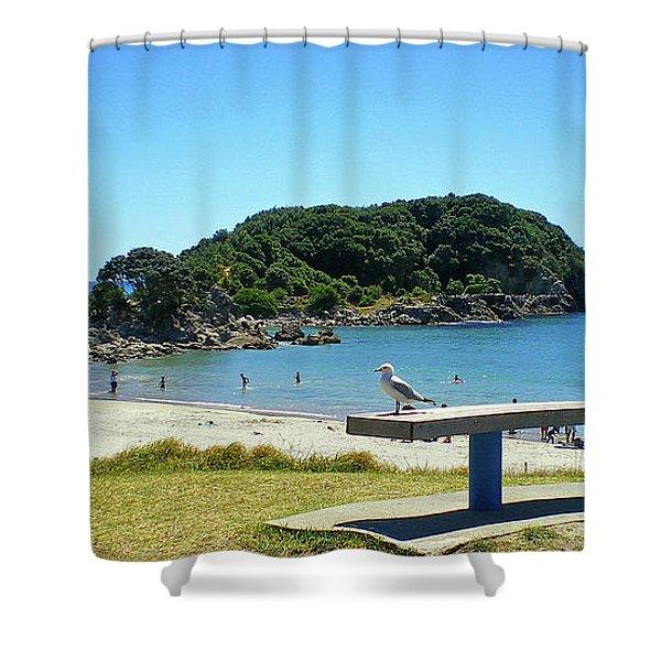 Mount Maunganui Beach 4 - Tauranga New Zealand Shower Curtain