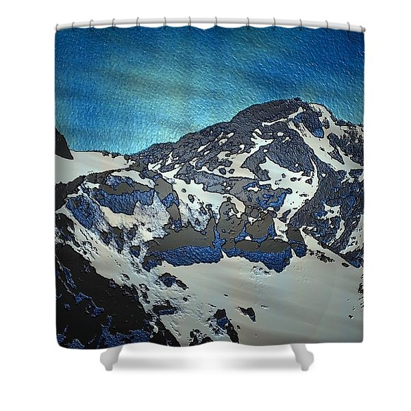 Shower Curtain featuring the painting Mountain by Mark Taylor