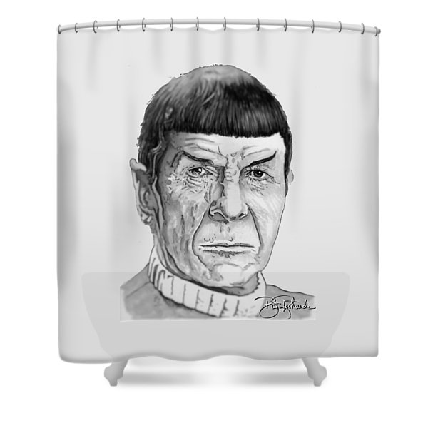 Mr Spock Shower Curtain