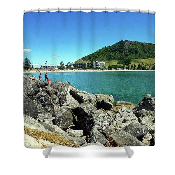 Mt Maunganui Beach 11 - Tauranga New Zealand Shower Curtain