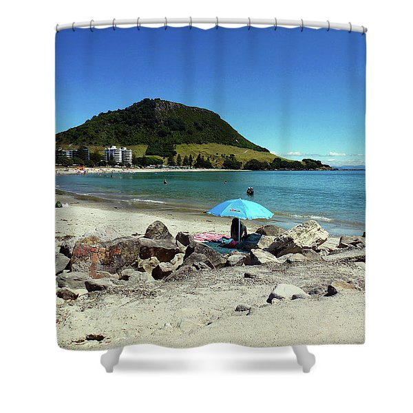 Mt Maunganui Beach 5 - Tauranga New Zealand Shower Curtain