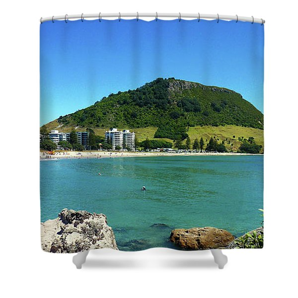 Mt Maunganui Beach 7 - Tauranga New Zealand Shower Curtain