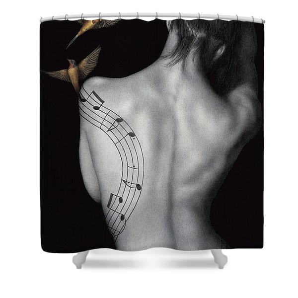 Muse-ic Shower Curtain