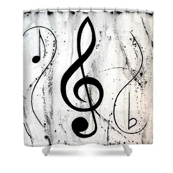 Music In Motion Shower Curtain