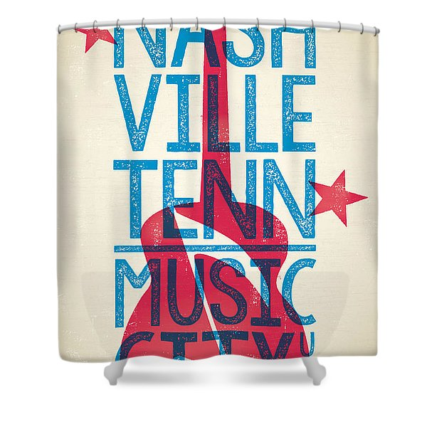 Nashville Poster - Tennessee Shower Curtain