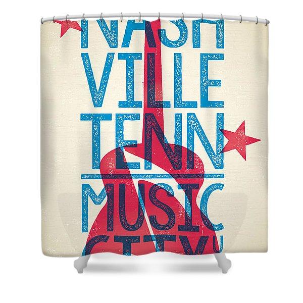 Nashville Poster - Tennessee Shower Curtain