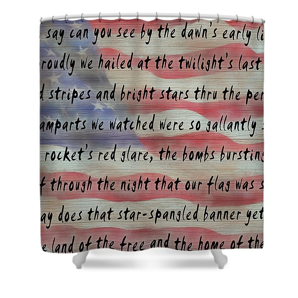 National Anthem Shower Curtain