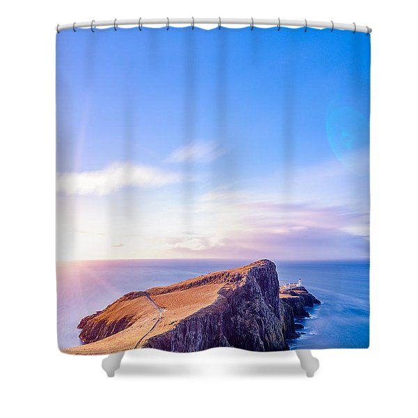 Neist Point Lighthouse At Dawn Shower Curtain