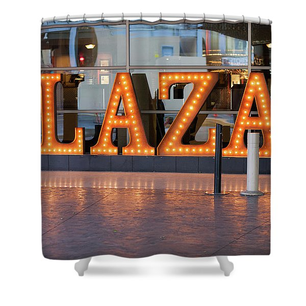 Neon Plaza Shower Curtain